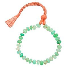 Check out this item at One Kings Lane! Chrysoprase Single Strand Bracelet