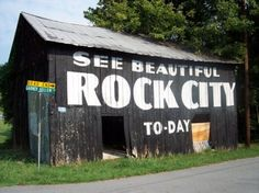 See Rock City Barns Located in Sevierville, TN. ~ Barn advertising ~