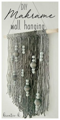 DIY makrame wall hanging kreativk.net