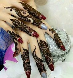 New Finger Henna Mehndi Designs - Kurti Blouse Khafif Mehndi Design, Finger Henna Designs, Arabic Henna Designs, Stylish Mehndi Designs, Mehndi Designs 2018, Mehndi Design Pictures, Mehndi Designs For Fingers, Beautiful Mehndi Design, Henna Tattoo Designs