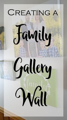 Do a makeover of one of your walls and create a family gallery wall for your home with these tips!