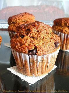 Eggless Whole Wheat Banana Muffins...goodness at its best!!!