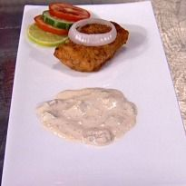 Lahori Tawa Tali Machchli Recipe - Fish fillet pieces dipped in creamy mixture of rice flour, eggs, cornflour and spices, shallow fried and served with a dried dates sauce.