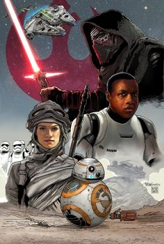 "Illustration for Star Wars Episode VII ""The Force Awakens""- Lucas film. Saw it on 17/12/2015 in Italy. FANTASTIC!!"