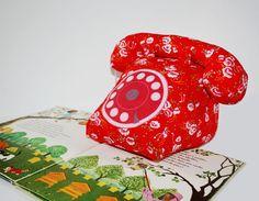 """Téléphone vintage musical en tissu de coton rouge à fleur """"China Girl"""" : Chambre d'enfant, de bébé par caro-et-zolie"""