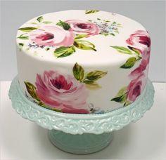lovely lovely hand painted cake