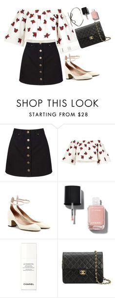 """""""Untitled #1171"""" by shannonmichellex ❤ liked on Polyvore featuring Miss Selfridge, House of Holland, Valentino and Chanel"""