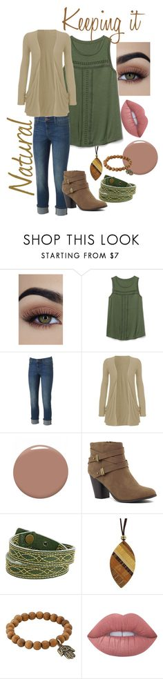 """""""Nature Lover"""" by melmel1644 ❤ liked on Polyvore featuring Gap, Juicy Couture, WearAll, Christian Louboutin, Frye, NOVICA, Dee Berkley and Lime Crime"""