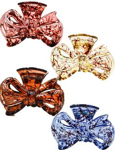 Prettyou 3.5' Effortless Beauty Assorted Bowknot Hair patterns Hair Claws?4-count *** Click on the image for additional details.