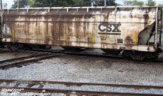 CSXT 247421 Hopper 3 Bay Cylindrical Railcar CSX Railroad,   CSXT Grain SCL L&N Family Lines System Railway Rail Car Freight Train Cord...