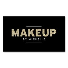 Modern Gold Glitter II Makeup Artist Business Card Template. This is a fully customizable business card and available on several paper types for your needs. You can upload your own image or use the image as is. Just click this template to get started!