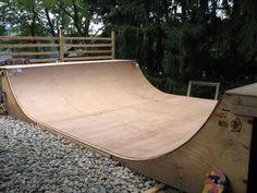 "When I started skating eons ago, I've always said ""I'm gonna have a half pipe at my house""! Bmx, Skate Ramp, Skate Surf, Half Pipe Plans, Scooter Ramps, Backyard Skatepark, Mini Ramp, Skateboard Ramps, Cool Skateboards"