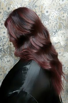 Cherry cola red hair. By Shana Montgomery, owner of Fringe Theory Salon.
