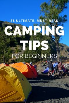 38 easy-to-apply tips for beginning campers. Find tips about safety, equipment, animals/insects, food, waterproofing and much more. In short a handy post on how to become a happy camper for all you backpackers and outdoor lovers. | By Bunch of Backpackers.