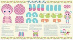 Riley Blake - Flutterberry - Bella Butterfly Toy Panel