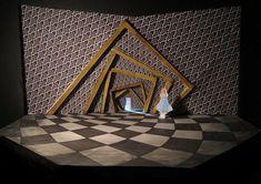 """Conceptual Scenic Design for """"Alice in Wonderland"""" on Behance Wonderland Theater, Alice In Wonderland Props, Wonderland Costumes, Wonderland Party, Set Design Theatre, Stage Design, Tim Burton, Music Themed Parties, Scenic Design"""