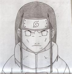 drawing from neji out of naruto Neji Naruto Drawings Easy, Naruto Sketch Drawing, Anime Drawings Sketches, Cool Art Drawings, Anime Sketch, Anime Naruto, Naruto Kakashi, Naruto Art, Otaku Anime