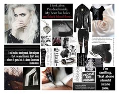 """Look into the darkness"" by sophia-pawz ❤ liked on Polyvore featuring Public Library, PATH, Poizen Industries, Demonia, PacSun, Iron Fist, McQ by Alexander McQueen, black and 2017"