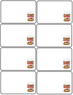 Labels, nutella labels, printable labels ,printables