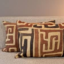 Kuba cloth pillows