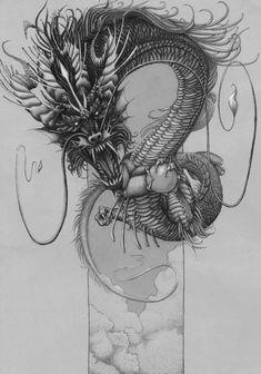 - Tattoo Thinks Dragon Tattoo Art, Small Dragon Tattoos, Dragon Tattoo Designs, Dragon Art, Japanese Dragon, Chinese Dragon, Japanese Tattoo Art, Japanese Art, Celtic Tattoos For Men