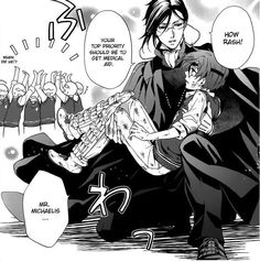 """Remember when I said, """"Get schooled""""? Who wouldn't want this man as your professor? I might need some after class tutoring if ya know what I mean. Black Butler Funny, Black Butler Ciel, Black Butler Kuroshitsuji, Ciel Phantomhive, Sebastian X Ciel, Sebaciel, Black Buttler, Hyouka, Manga Games"""