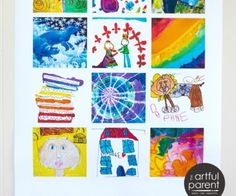 Display Kids Art with Custom-Made Collage Posters that Showcase their Best Pieces