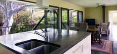 Kitchen, Living Space, Bridge House in Adelaide, Australia by Max Pritchard Architect
