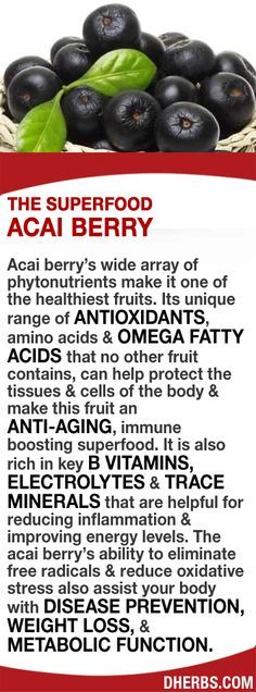 Acai berry has a wide array of phytonutrients. Its range of ANTIOXIDANTS, amino acids & OMEGA FATTY ACIDS can help protect the tissues & cells of the body & make this fruit an ANTI-AGING, immune boosting superfood. It is also rich in B VITAMINS, ELECTROLYTES & TRACE MINERALS that are helpful for reducing inflammation & improving energy. The acai berry's ability to eliminate free radicals & reduce oxidative stress also assist your body with DISEASE PREVENTION, WEIGHT LOSS, & METABOLIC…