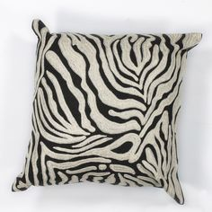 Zebra Oasis Cotton Throw Pillow
