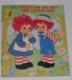 1974 Hallmark Raggedy Ann and Andy Mini Coloring Book Soft Bound 22 Pages | eBay