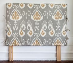 Headboard covers with side ties...must do for My girl!