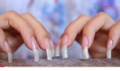 Summer is hot, you should learn the design of these 12 nails and be bold to use the color. Sexy Nails, Love Nails, Pretty Nails, Long Square Acrylic Nails, Summer Acrylic Nails, Long Natural Nails, Curved Nails, Nails Only, Strong Nails