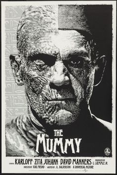 Universal Classic Monsters Poster Art : The Mummy 1932 ( Copper Variant ) by Elvisdead @ deviantart Screen Print Poster, New Poster, Poster Prints, Frankenstein, Mummy Movie, Horror Movie Posters, Horror Films, Horror Icons, Classic Horror Movies