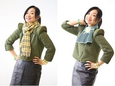 Military Top and Scarves