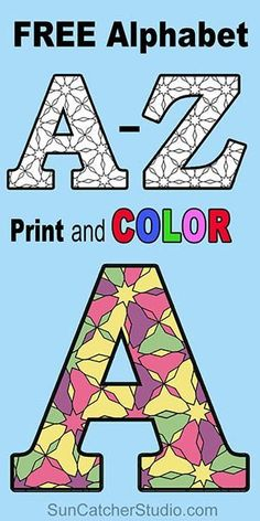 Free Printable Alphabet Letters for Coloring (with Patterns) is part of DIY Kids Crafts Free Pattern - FREE printable alphabet COLORING letters AZ with patterns for preschool, kids, and adults to color Take a relaxing break by Coloring Letters, Alphabet Coloring Pages, Free Printable Coloring Pages, Templates Printable Free, Printable Stencils, Free Downloads, Free Printables, Free Printable Alphabet Letters, Alphabet Stencils