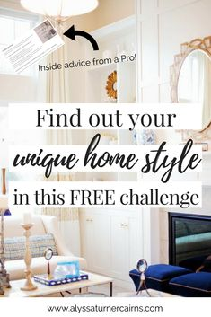 Not sure where to start when you're planning your home design and decor? Wish you had that Pinterest-Perfect home, but totally overwhelmed by too much inspiration? Follow this simple and FREE challenge from an online home designer to define your unique home design style- and start decorating like a pro!