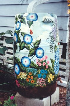 If you are going to have a rain barrel, it should be an attractive addition to the garden. I'm not a fan of the plain, industrial looking rain collection systems that I've seen.