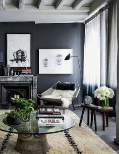 un salon de luxe avec peinture murale gris - Un Salon De Luxe
