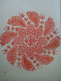 Magyar Otthon: Kalotaszegi nagyírásos Hungarian Embroidery, Folk Embroidery, Embroidery Patterns, Line Patterns, Fabric Patterns, Soutache Pattern, Polish Folk Art, Outline Drawings, Heirloom Sewing