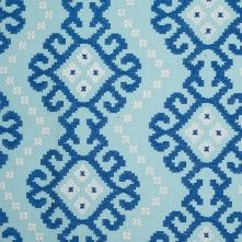 Prussian Blue Embroidered Home Decor Cotton