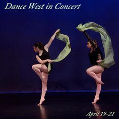 Dance West in Concert  April 19-21 www.dancewestcompany.com