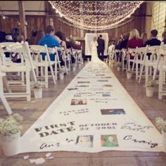 Time line aisle runner