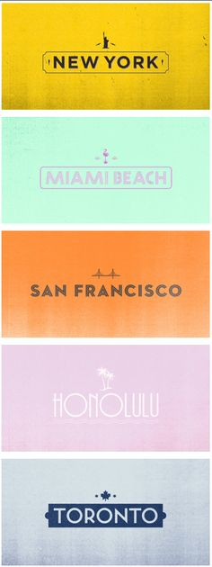 cities & #type