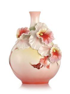 FZ03214 Franz porcelain the blessing carrier cattleya orchid sculptured vase NEW