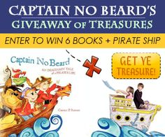 Enter to win a complete autographed set of the Captain No Beard series, by award-winning author Carole P. Roman, and a Pirate Ship to deepen the imaginative play encouraged by these great books!