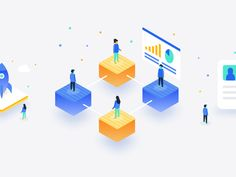 Blockchain Isometric Illustrations designed by Dmitri Litvinov. Connect with them on Dribbble; Identity, Event Website, Microsoft Corporation, Competitive Analysis, Isometric Design, Flat Illustration, Illustrations, Animated Icons, Packaging