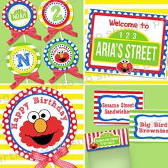 cute ideas for Elmo party