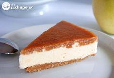 ¿Por qué no? Una #tarta de queso y membrillo que hará de vuestras sobremesas un placer http://recetasderechupete.com/tarta-de-queso-y-membrillo/17910/ #Membrillo #TartaDeQueso