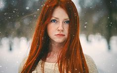 Bright Red Hair Blue Eyes - wallpaper.